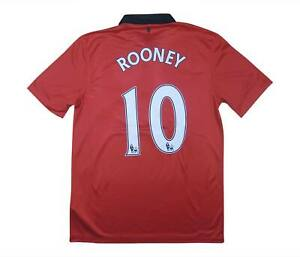 Manchester United 2013-14 Authentic Maglietta Rooney #10 (eccellente) M