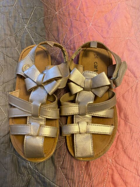 Carter's Gold Glitter Sandals Shoes Baby GirlS SIZE 12