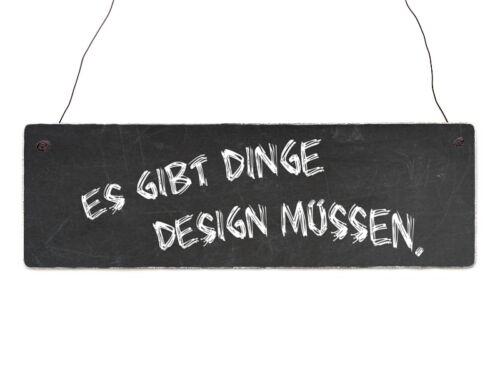 Shabby Vintage Holzschild Türschild ES GIBT DINGE DESIGN MÜSSEN Dekoschild