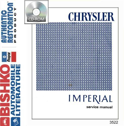 1966 Chrysler /& Imperial Shop Service Repair Manual CD Engine Drivetrain Wiring