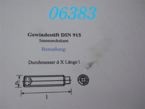 DIN 915 25 x GEWINDESTIFT  M 4 x 8  VERZINKT
