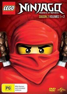 LEGO-Ninjago-Masters-of-Spinjitzu-Season-2-Volumes-1-2-DVD-NEW-Region-4-Au
