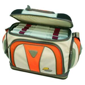 PLANO Guide Series Fishing Lures Tackle Bag w/ 4-3700 Stowaway Storage Boxes