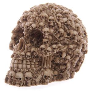 Totenkoepfe-Design-Totenkopf-Figur-Gothic-Skull-Dekoration-Halloween