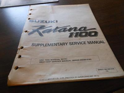 1989 Suzuki GSX1100F Katana Supplementary Service Manual ...