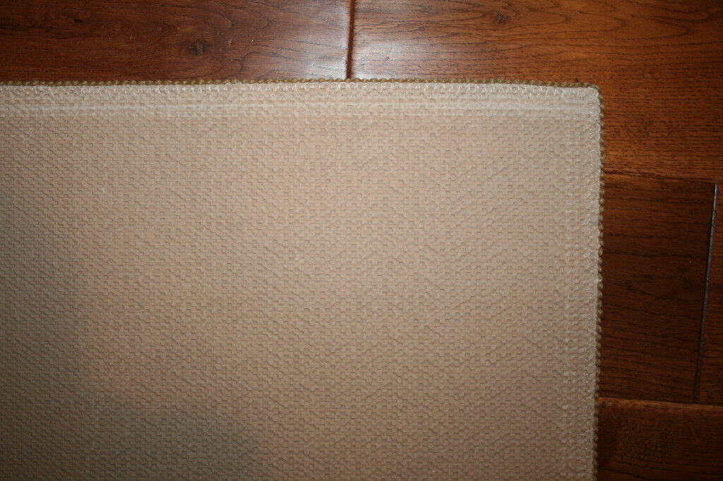 2X9 Kitchen Kitchen Kitchen Runner Mat Rug Beige Tan Praline Washable Fruit Grapes Pears Apples 0458c1