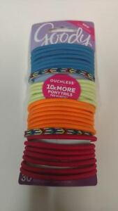 Goody-Ouchless-No-Metal-Hair-Elastics-30-Count-Colors-As-Shown