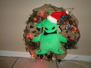 Nightmare Before Christmas Mr Oogie Boogie Christmas Wreath Lighted Large 16 Ebay Though with my usual work load that is something you will need to communicate with me before purchasing anything in my shop. details about nightmare before christmas mr oogie boogie christmas wreath lighted large 16
