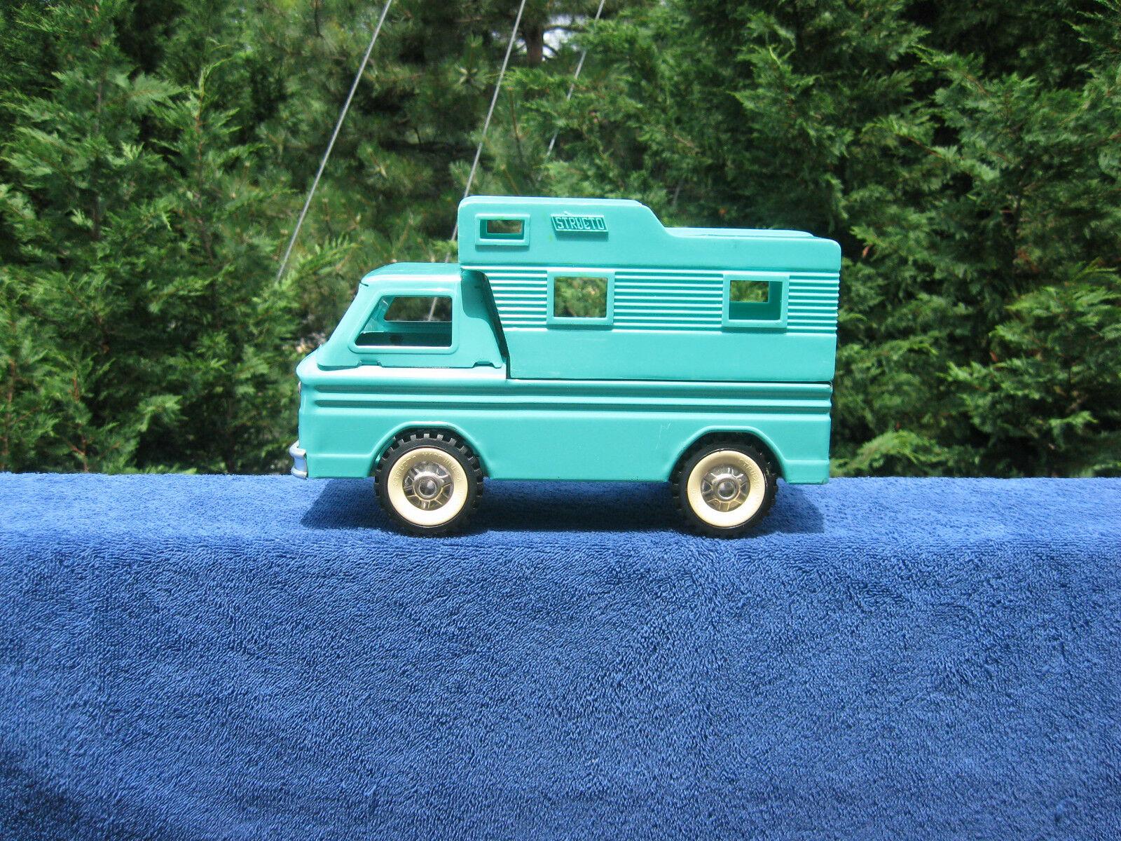 Vintage années 1960 Structo Camper Pressed Steel & Plastique Longueur 10 1 2