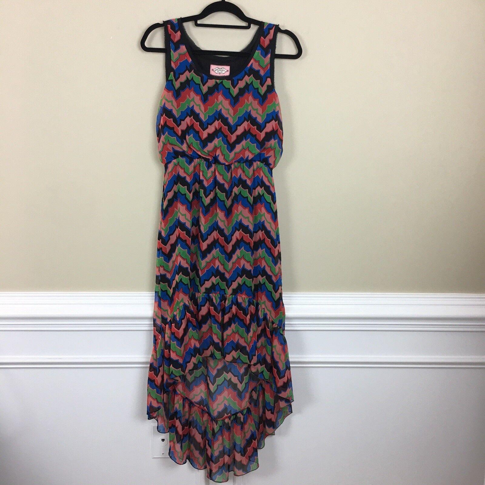 Pheobe Couture Sleeveless Silk Trim High Low Maxi Dress 2