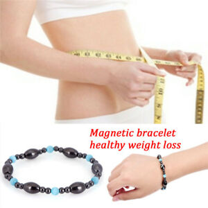 Weight-Loss-Black-Stone-Bracelet-Health-Care-Biomagnetism-Magnetic-Bracelet-J7