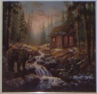Bear Cabin Ceramic Tile 6 X 6 Kiln Fired Back Splash Decor