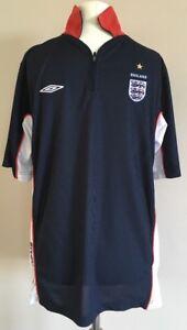 Mens-England-Umbro-Football-Shirt-Top-Size-Large-World-Cup