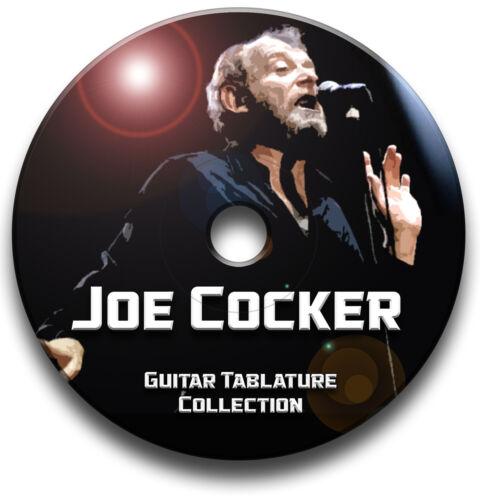 JOE COCKER ROCK GUITAR TAB TABLATURE SONG BOOK SOFTWARE CD