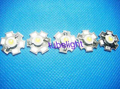 5pc 3W Natural White High Power LED Light Emitter 4000k-4500K with 20mm Star pcb