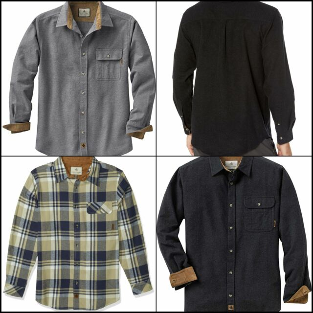 desolateness Men Casual Plaid Button Down Top Sweatshirts Jackets