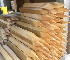 Details About Wooden Ground Pegs Marker Stakes 16 175 Inches Long 15 Inches Approx