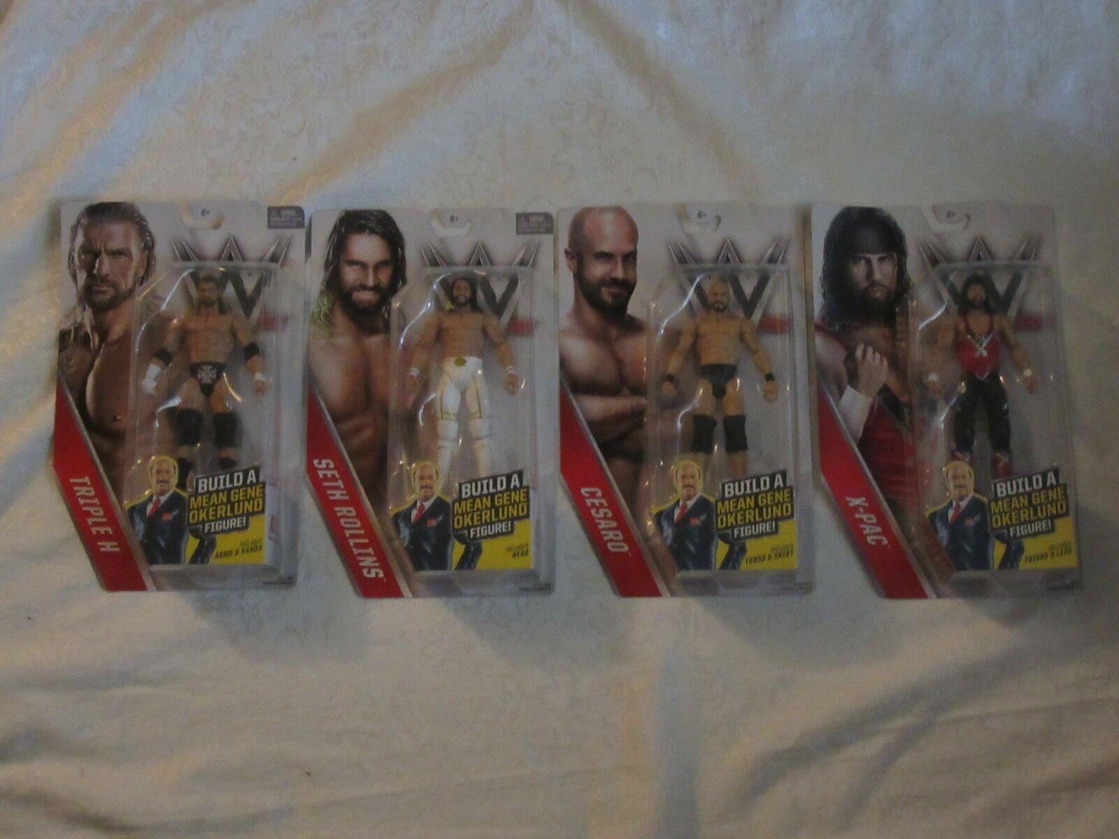 Mattel WWE Then Now Forever BAF Mean Gene Okerlund Figure Triple H Lot of 2