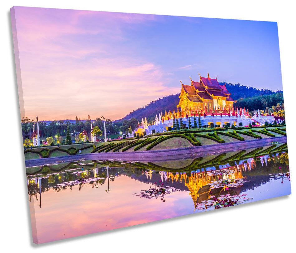 Temple Thailand Landmark SINGLE CANVAS CANVAS CANVAS WALL ART Picture Print e47b76