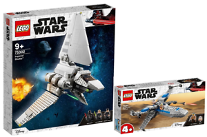 LEGO-Star-Wars-75302-Imperial-Shuttle-75297-Resistance-X-Wing-N3-21-VORVERKAUF