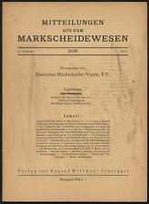 Mitteilungen aus dem Markscheidewesen Markscheider Bergbau Steinkohle Flöze 1936