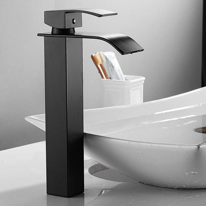 Schwarz Wasserfall Mischbatterie Bad Wasserhahn Waschtischarmatur Wasserarmatur | Hochwertige Materialien  | New Listing  | Zürich  | eine breite Palette von Produkten