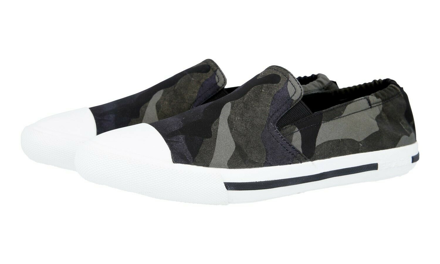 AUTH LUXURY PRADA TRAINERS SHOES 4D3226 CAMOUFLAGE  FUMO 6,5 40,5 41