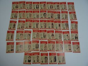 Vintage-1972-Lot-of-50-Horrible-Horoscope-Trading-Cards-Philly-Gum-Co-Novelty