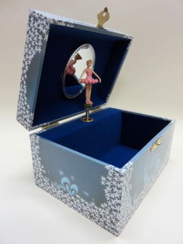 süßes Schmuckkästchen Schatulle mit Spieluhr Spieldosen tanzende Ballerina und Sterne NEU