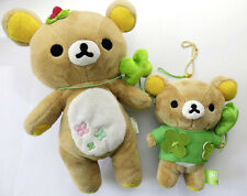 2 Glücks Rilakkuma manga Bären Plüsch plush Clover Klee Anhänger Japan rilakuma