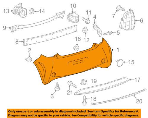 Scion TOYOTA OEM 12-15 iQ Rear Bumper-Cover 5215974901