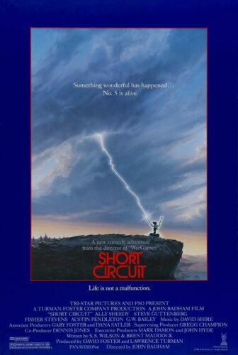 Short Circuit 1986 Retro Movie Poster A0-A1-A2-A3-A4-A5-A6-MAXI 447
