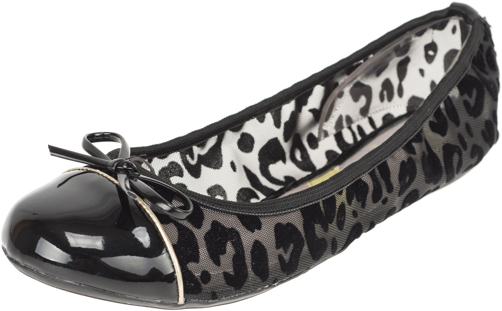 Butterfly Twists OLIVIA Retro FLOCK LEOPARD Ballet Flats BALLERINAS Rockabilly