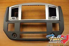 2007-2009 Dodge Ram Slate Gray Radio Dash Bezel OEM Mopar
