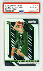 DONTE-DIVINCENZO-2018-Panini-Silver-Prizm-246-Rookie-Card-RC-PSA-10-True-Rookie