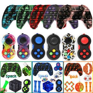Sensory Bubble Popit Fidget Toys Set Gamepad Stress Reliever Infinity Cube Gifts