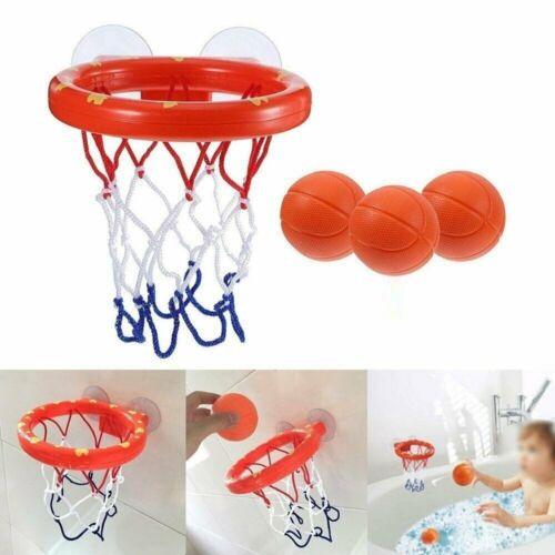 Kids Bath Toys Basketball Hoop /& Ball Bathtub Water Play Set for Baby toys UK