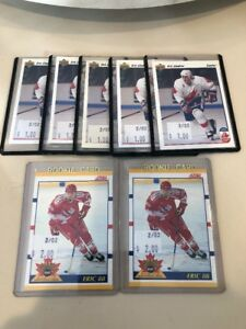 Lot-7-Eric-Lindros-Hockey-Rookie-Card-1991-92-Upper-Deck-9-Score-Team-Canada