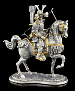Japanese-Samurai-with-Horse-And-Sheet-Pewter-Figurine-Veronese-Warrior