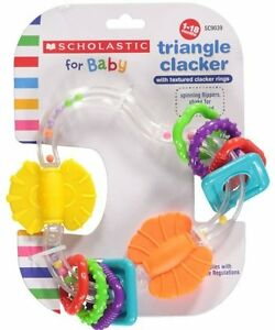 Scholastic For Baby Triangle Clacker Unisex Baby Toy