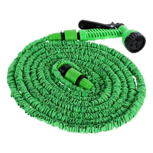 25FT-200FT Expandable Flexible Garden Watering Water Hose with Spray Gun Nozzle