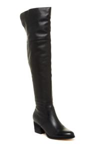 Corso Como Hoboken Women's Black Leather Over Knee Boot Sz 7 2870*