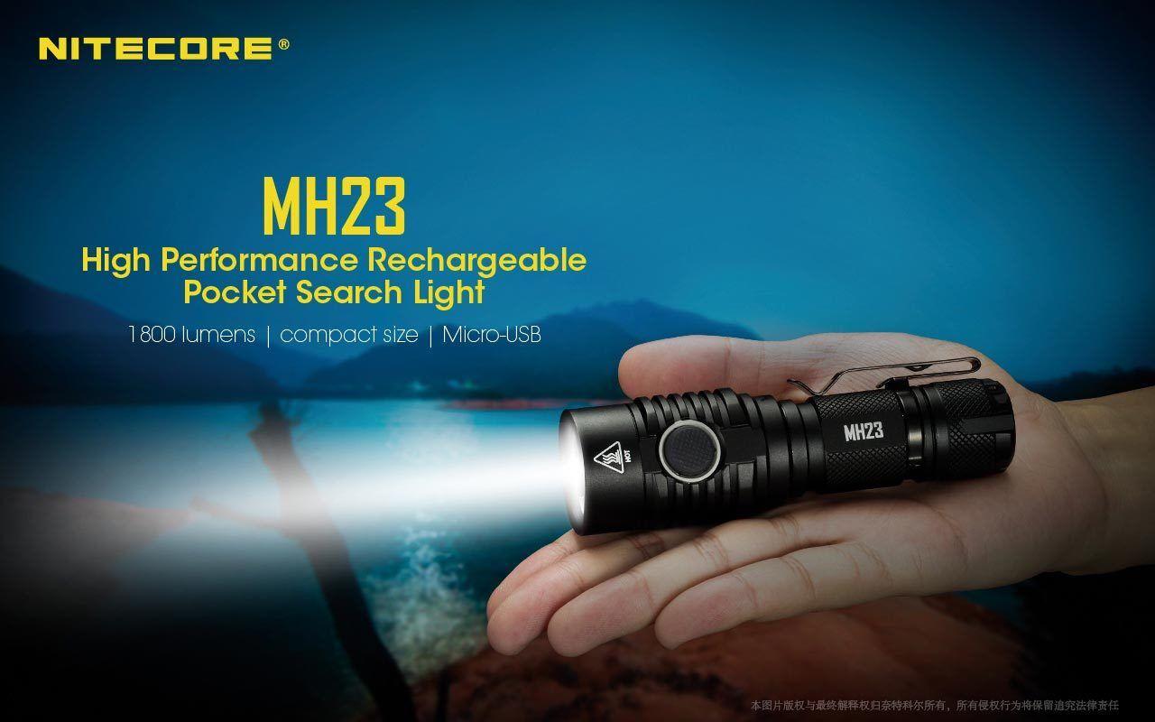 Nitecore Mh23 1800 Lumen Hochleistung Wiederaufladbar Taschenformat Taschenlampe