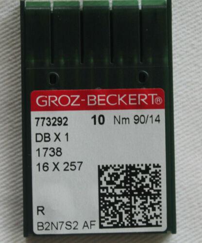 10 GROZ-BECKERT Maschinennadeln 1738 R DB X 1 Rundkolben Nm 90/14 OVP