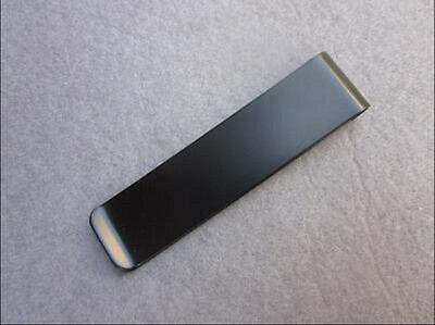One Slim Stainless Steel Money Clip Wallet Pocket Cash Credit Card holder Black