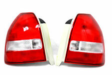 96-00 Honda Civic EK EM 3dr Hatch Back Red Clear Frosted Tail lights EX LX DX Si