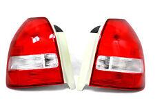 96-00 Honda Civic EK EM 3dr Hatch Back Red Clear Frosted Tail lights EX LX DX Si