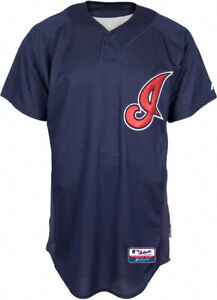 detailed look bf200 0ff65 Details about Majestic Cleveland Indians Men's BP Authentic Cool Base  Batting Practice Jersey