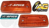 Apico Orange Front Clutch Master Cylinder Cover For KTM SX 125 09-13 Motocross