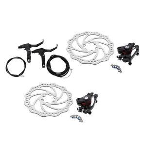 Freno-de-Disco-Delantero-Trasero-para-Bicicleta-Bici-kit-160mm-Conjunto-De-Palanca-De-Cable-Pinzas